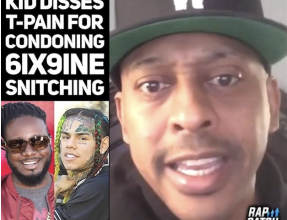 Gillie Da Kid disses T-Pain for condoning Tekashi 6IX9INE Snitching in a Recent Interview