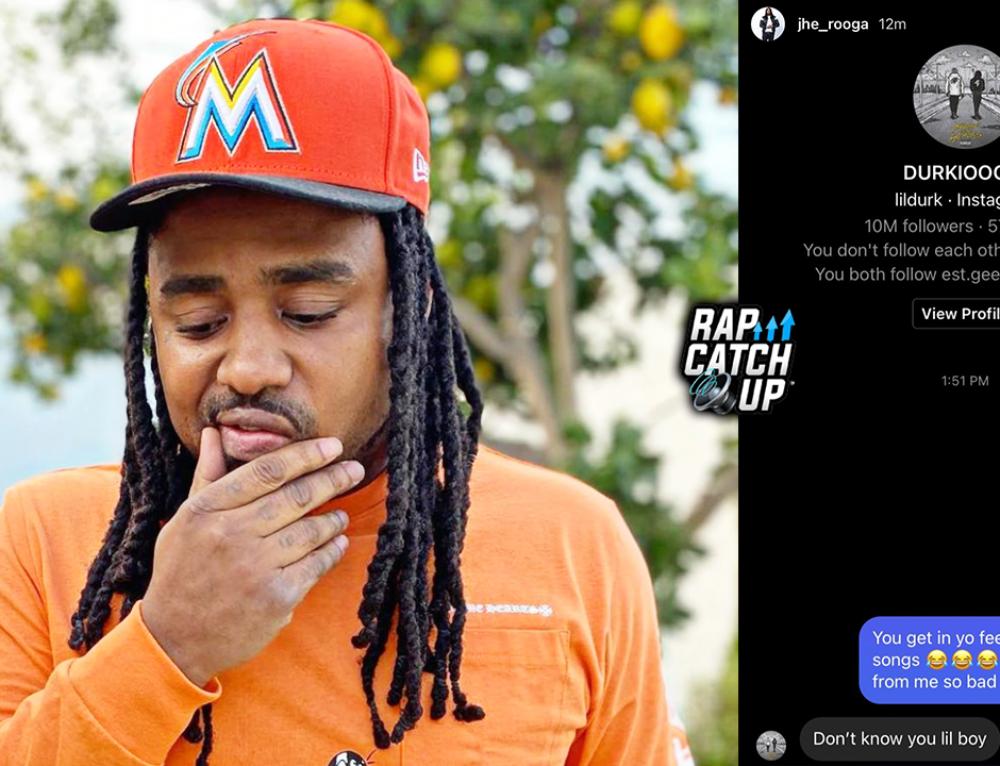 Rooga posts DMs with Lil Durk + OTF DThang Responds